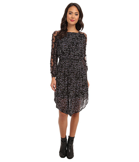 Free People - Charlotte Dress (Black Combo) Women's Dress
