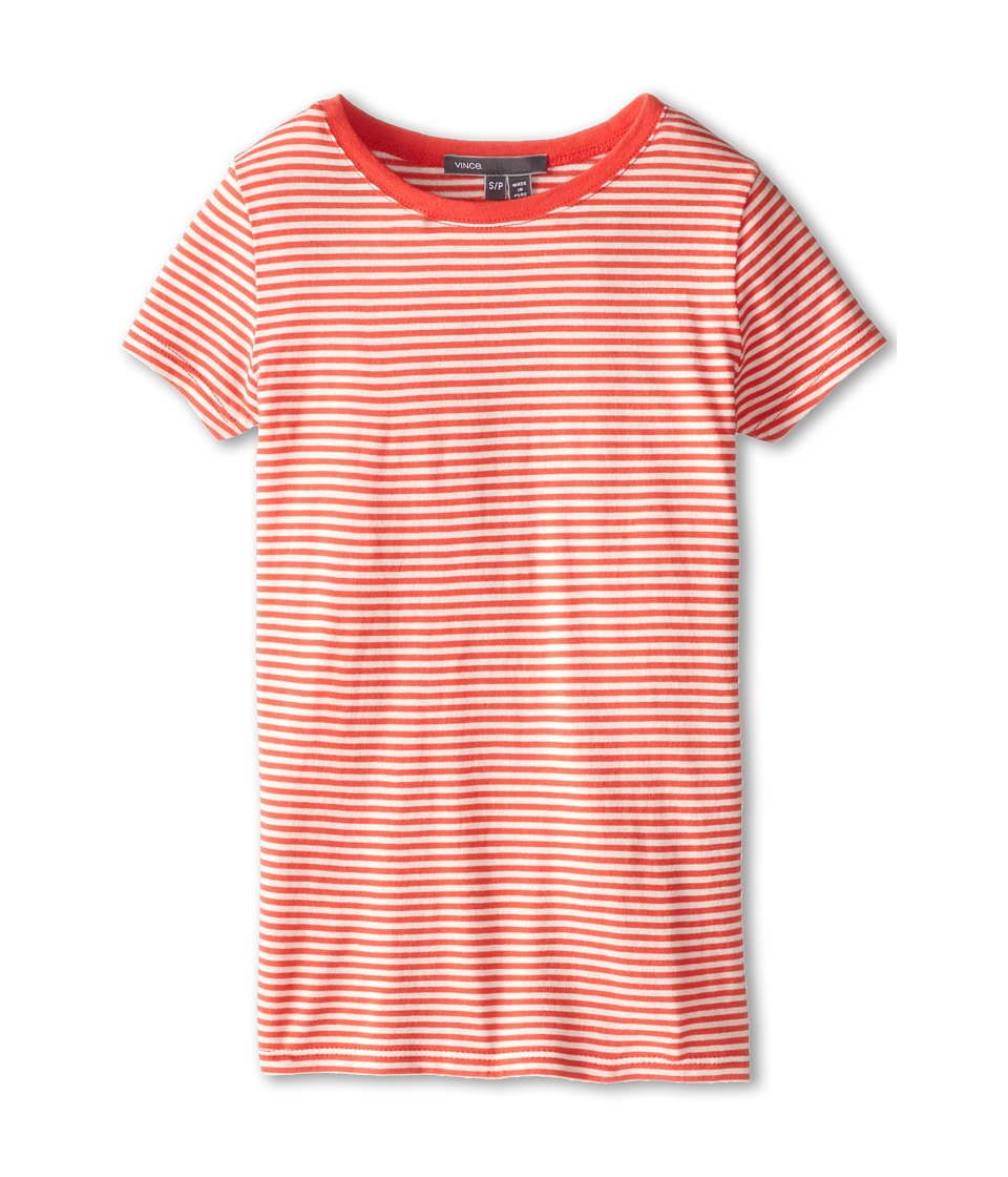 Vince Kids - Favorite Tee (Big Kids) (Nectar/Crema) Girl's Short Sleeve Pullover