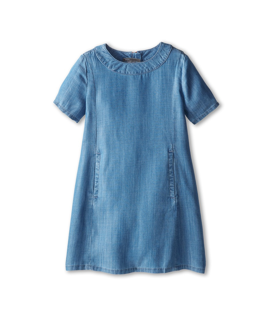 Vince Kids - Chambray Shift Dress (Big Kids) (Indigo) Girl's Dress