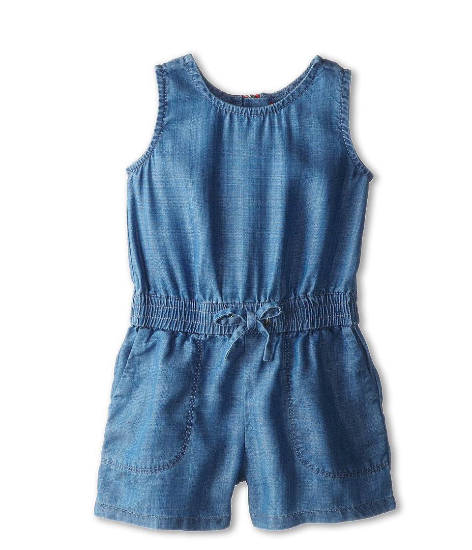Vince Kids - Chambray Romper (Toddler/Little Kids) (Indigo) Girl's Jumpsuit & Rompers One Piece