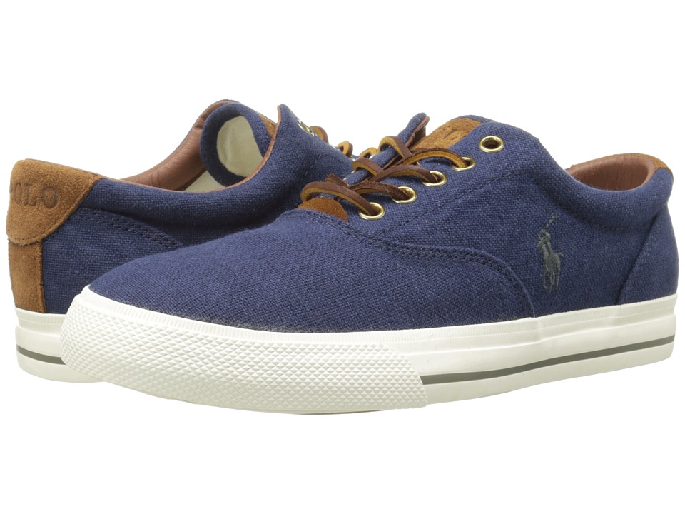 Polo Ralph Lauren - Vaughn (Indigo Flax Linen/Sport Suede) Men's Lace up casual Shoes
