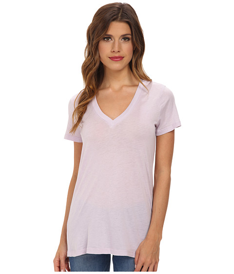 Splendid - Very Light Jersey S/S V-Neck (Lilac) Women