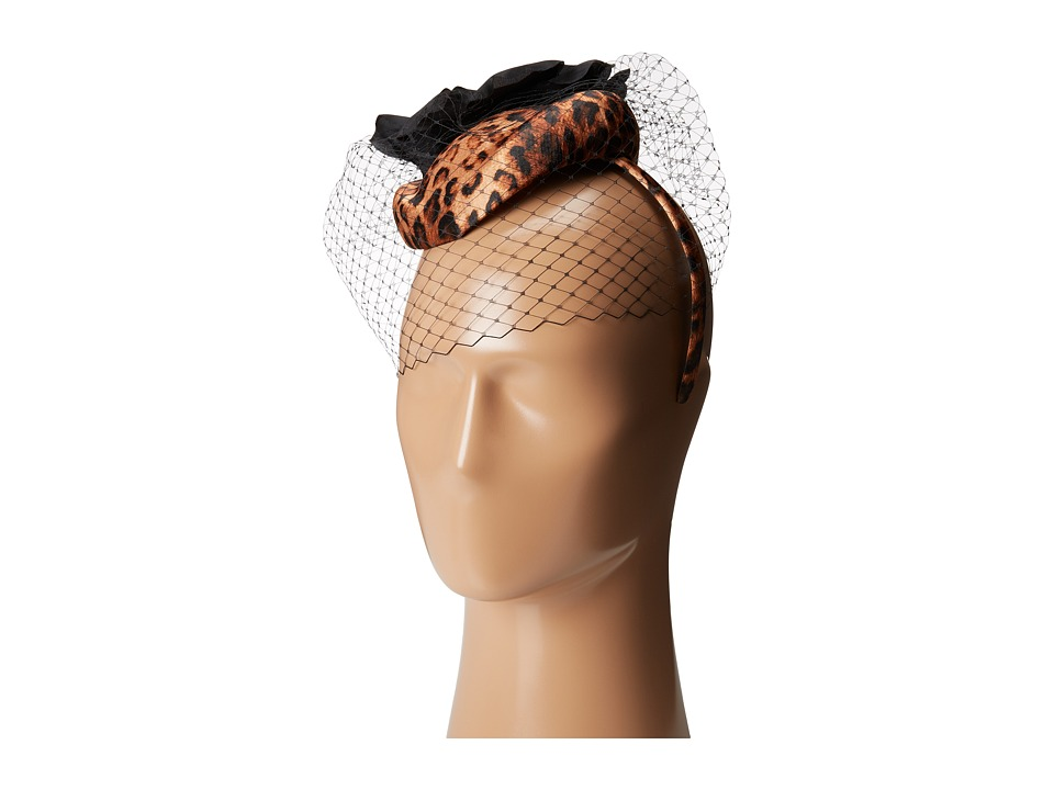 SCALA - Leopard Pillbox Headband (Leopard) Headband