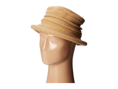 SCALA - Packable Wool Felt Cloche (Camel) Caps