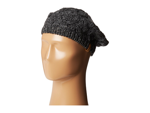Woolrich - Cable Knit Beret (Black) Berets