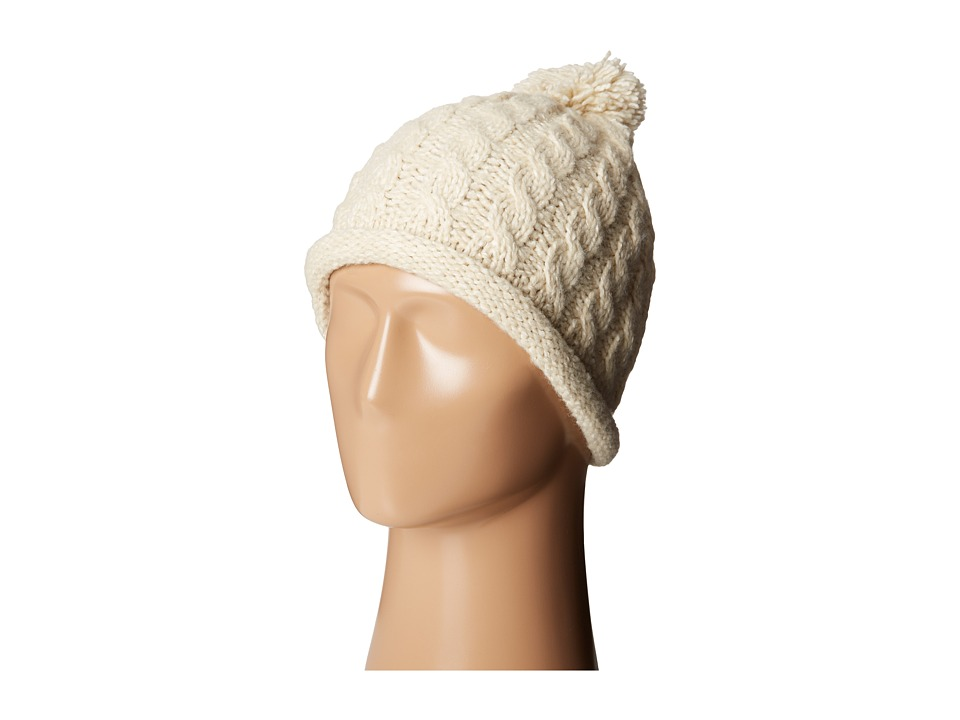 Woolrich - Cable Beanie w/ Rolled Edge (Natural) Beanies