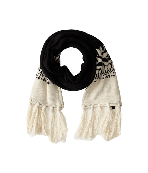 Woolrich - Knit Scarf w/ Fleece Lining (Black) Scarves