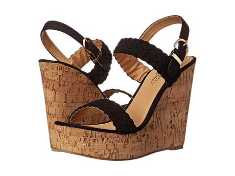 Charles Albert - New-1121 (Black) Women's Wedge Shoes