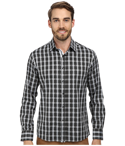 DI NERO MILANO - Luca Casual Dress Shirt (Raven) Men's Clothing