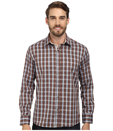 DI NERO MILANO - Luca Casual Dress Shirt (Cocoa) Men