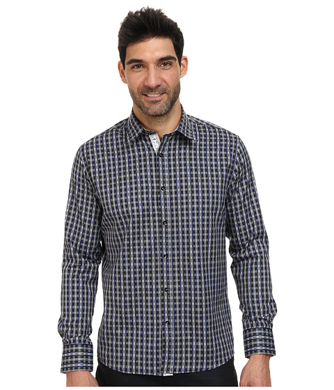 DI NERO MILANO - Luca Casual Dress Shirt (Eclipse) Men's Clothing
