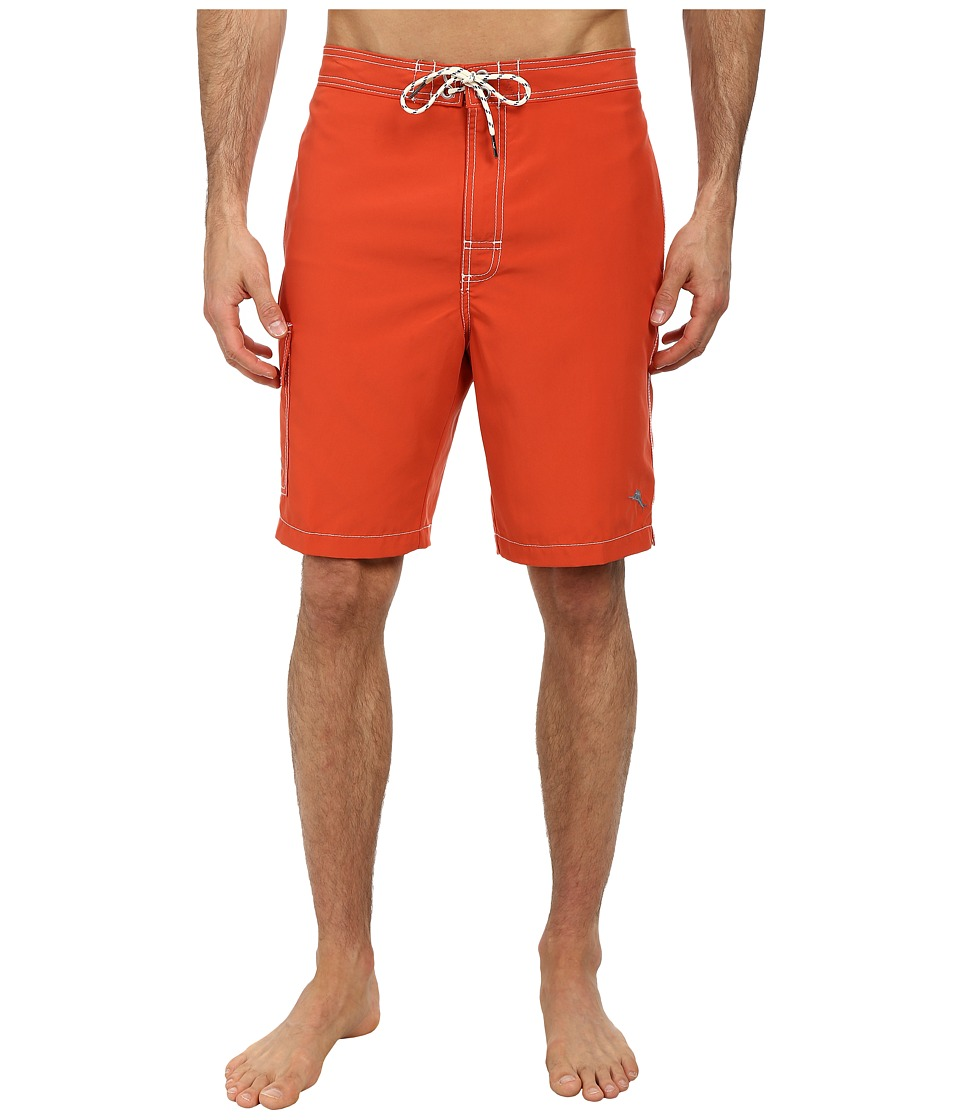 Tommy Bahama - The Baja Poolside 9 Swim Trunks (Red Hot) Men's Swimwear