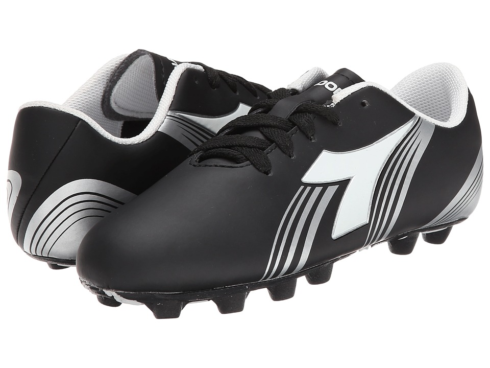 Diadora Kids - Avanti MD PU Soccer (Toddler/Little Kid/Big Kid) (Black/White) Kids Shoes