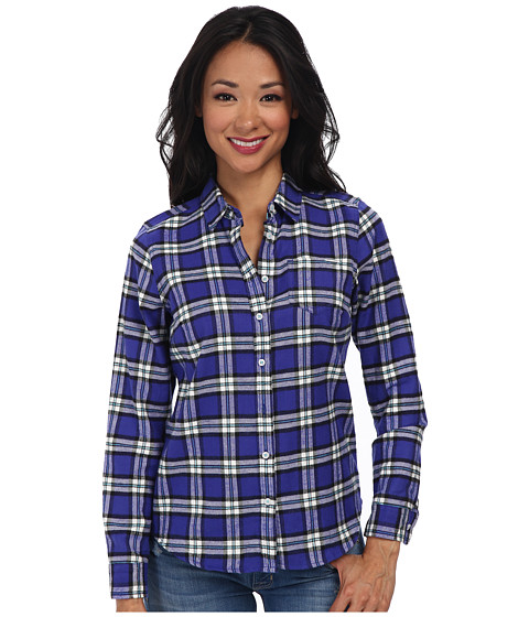 U.S. POLO ASSN. - Long Sleeve Plaid Flannel Shirt (Purple Orchid) Women