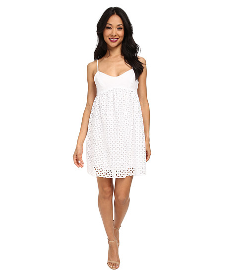 Susana Monaco - String Eyelet Dress (Sugar) Women's Dress