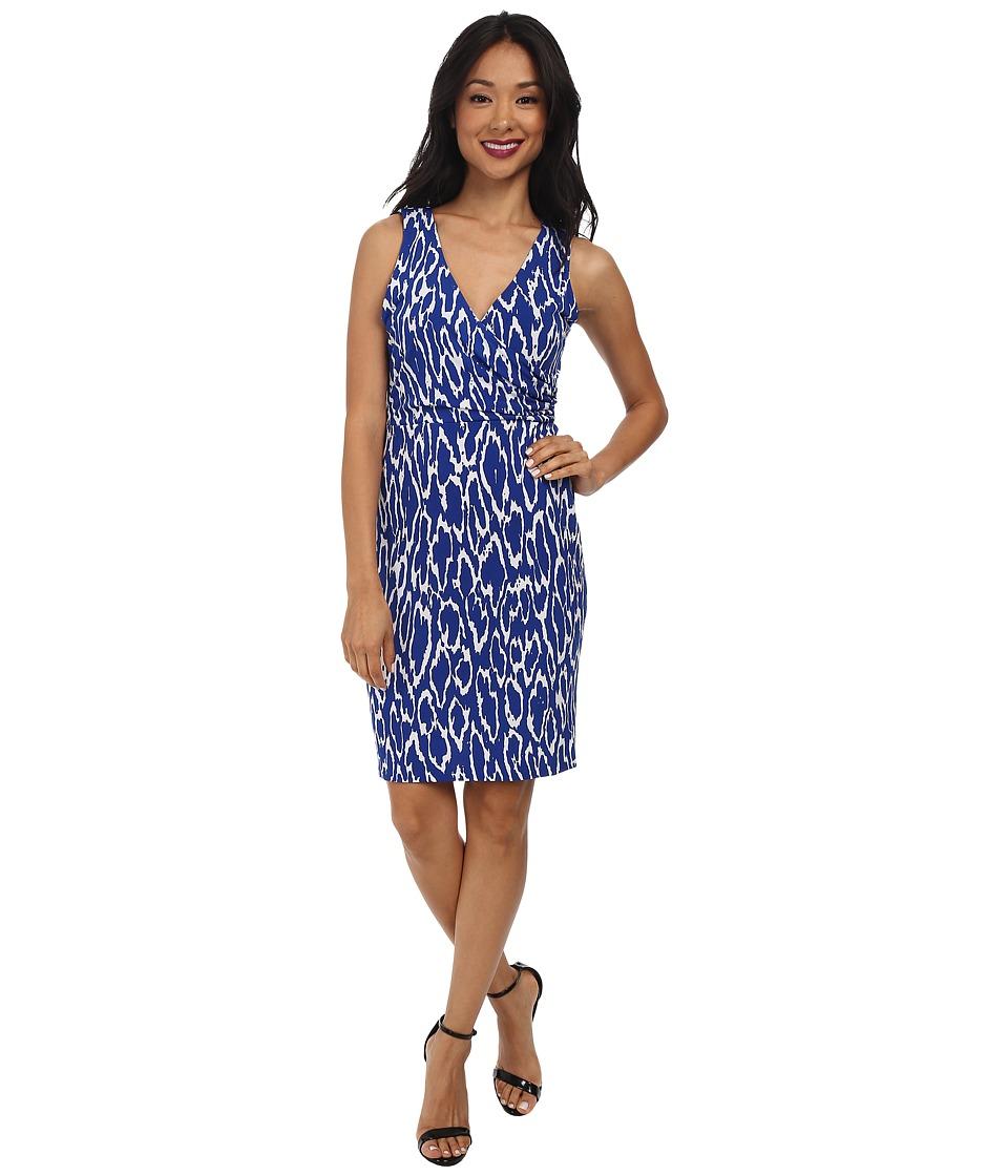 Susana Monaco - Wrap Tank Dress (Sapphire) Women