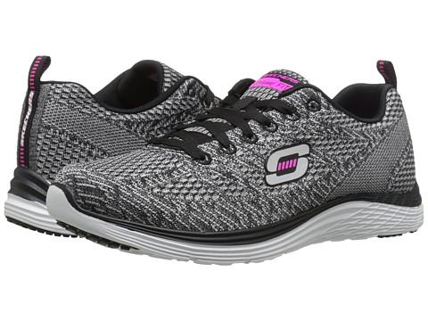 SKECHERS - Valeris (Silver Black) Women's Shoes