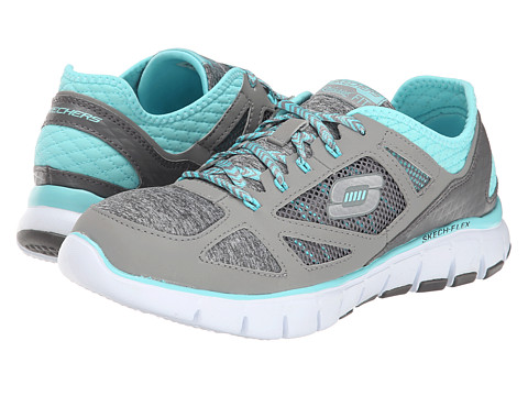 SKECHERS - Style Source (Gray Blue) Women's Shoes