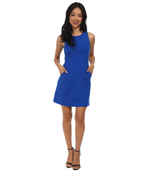 Susana Monaco - Sleeveless Pocket Shift Dress (Sapphire) Women's Dress