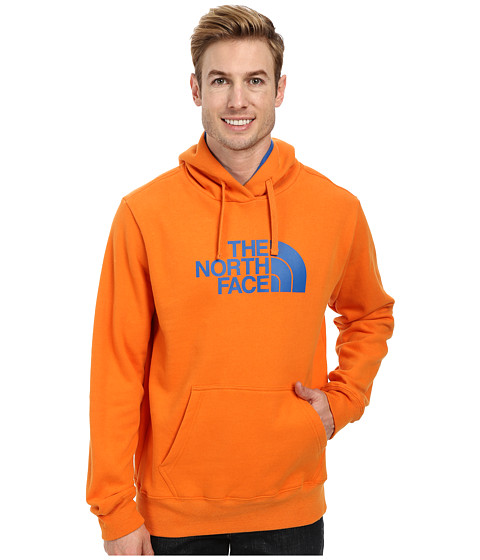 The North Face - Half Dome Hoodie (Burnished Orange Snorkel Blue) Men's Long Sleeve Pullover