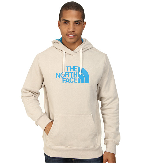 The North Face - Half Dome Hoodie (Oatmeal Heather Quill Blue) Men's Long Sleeve Pullover
