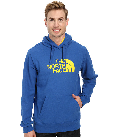 The North Face - Half Dome Hoodie (Snorkel Blue Heather Canary Yellow) Men's Long Sleeve Pullover