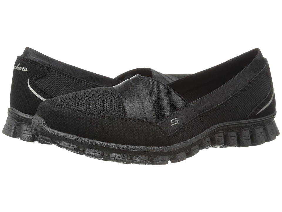 SKECHERS - Quipster (Black) Women's Slip on Shoes
