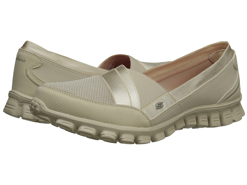 SKECHERS - Quipster (Natural) Women's Slip on Shoes