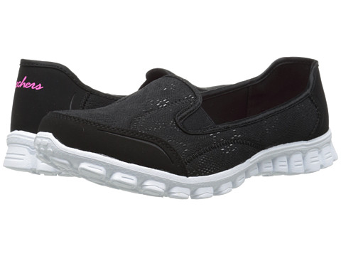 SKECHERS - This Kiss (Black White) Women's Shoes
