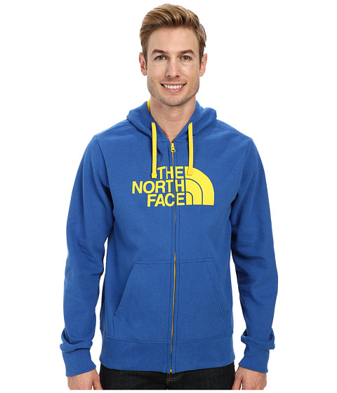 The North Face - Half Dome Zip Up (Snorkel Blue Heather Canary Yellow) Men's Sweatshirt
