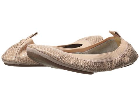 Yosi Samra - Samara Washed Metallic (Ballet Pink) Women's Flat Shoes