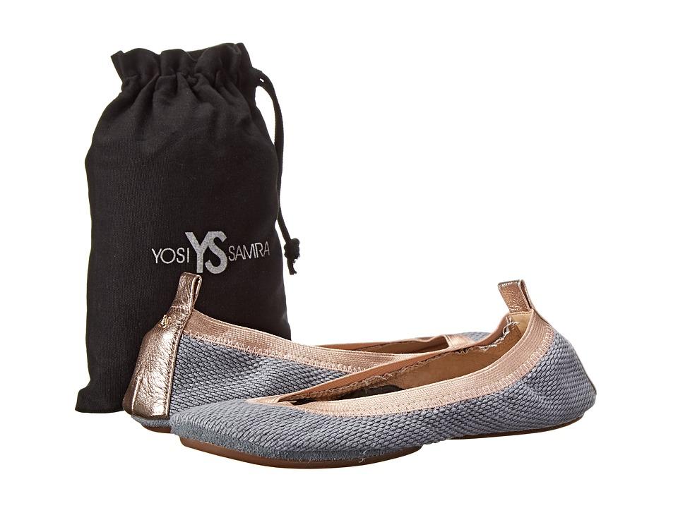 Yosi Samra - Samara Woven Canvas Flat (Chambray 2) Women's Flat Shoes