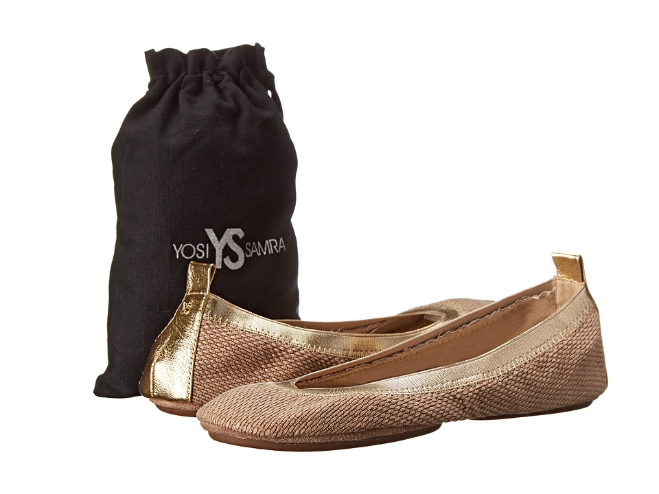 Yosi Samra - Samara Woven Canvas Flat (Natural) Women's Flat Shoes