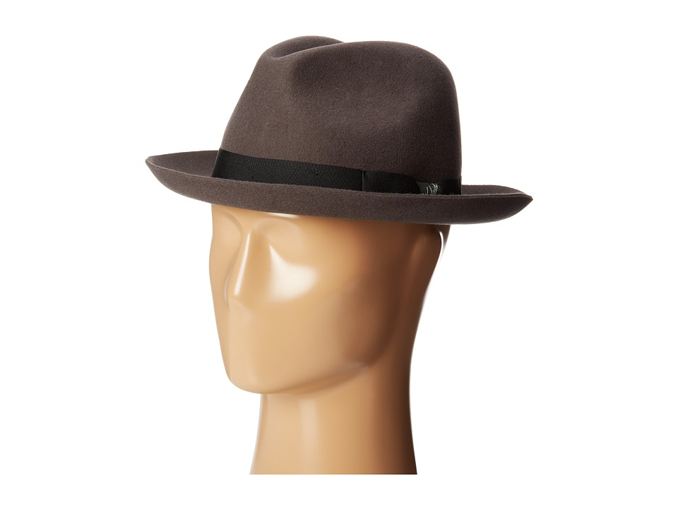 Woolrich - Wool Felt Safari w/ Raw Edge and Grosgrain Trim (Grey) Caps
