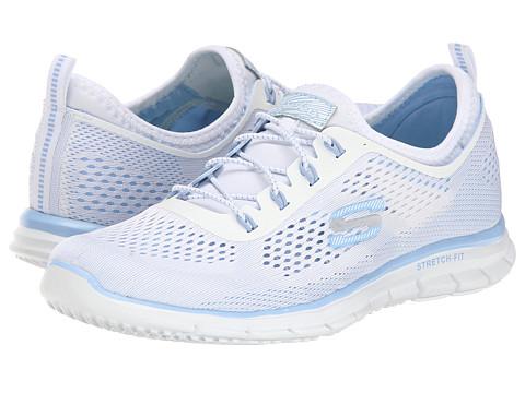 SKECHERS - Harmony (White Blue) Women's Shoes