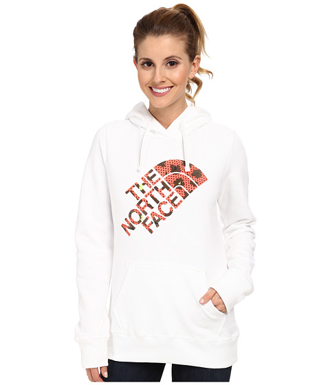 The North Face - Leopard Logo Pullover Hoodie (TNF White) Women