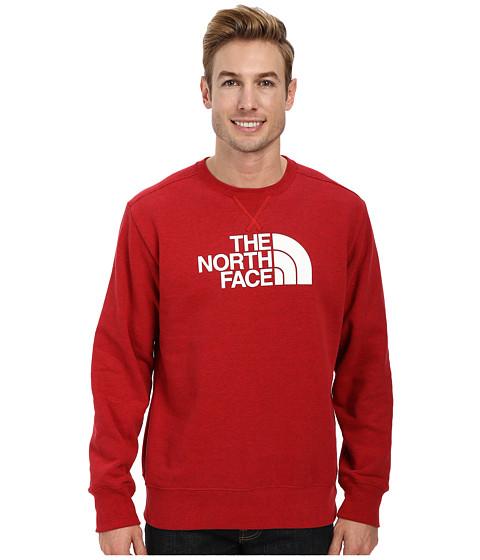 The North Face - Half Dome Fleece Crew (TNF Red Heather TNF White) Men's Sweatshirt