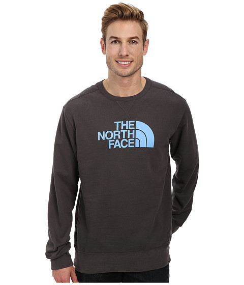 The North Face - Half Dome Fleece Crew (Graphite Grey Pinnacle Blue) Men