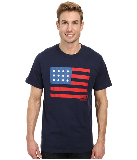 The North Face - Backyard Americana Tee (Cosmic Blue) Men