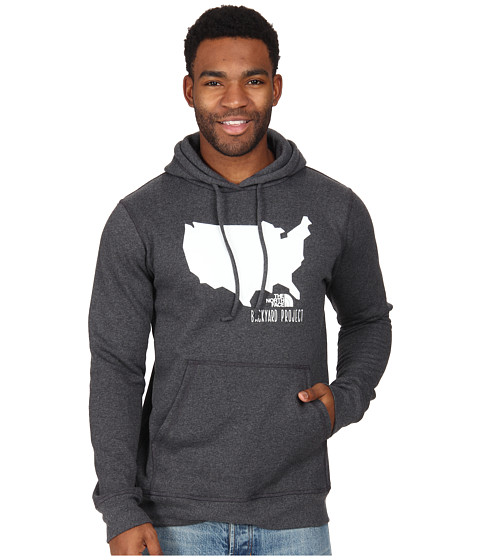 The North Face - Backyard USA Pullover Hoodie (Charcoal Grey Heather) Men