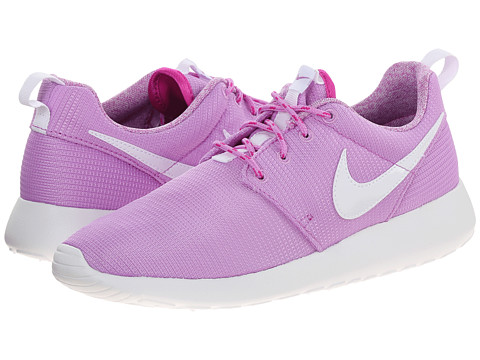 Nike Kids - Roshe Run (Little Kid/Big Kid) (Fuchsia Glow/Fuchsia Flash/White) Girls Shoes