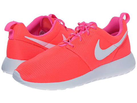 Nike Kids - Roshe Run (Little Kid/Big Kid) (Lava Glow/Pink Pow/White) Girls Shoes