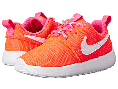 Nike Kids - Nike Rosherun (Toddler/Little Kid) (Lava Glow/Pink Pow/White) Girls Shoes
