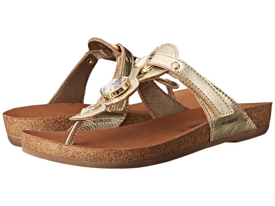 Mephisto - Violeta (Gold Metalkid) Women's Toe Open Shoes