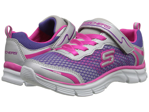 SKECHERS KIDS - Sweet Kicks - Dream Racer (Little Kid/Big Kid) (Silver/Multi) Girls Shoes