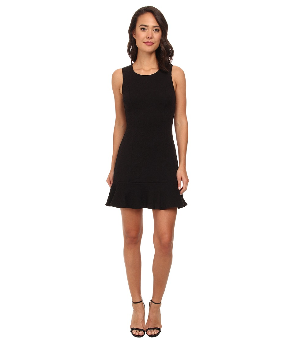 Brigitte Bailey - Sleeveless Dress w/ Ruffled Bottom (Black) Women's Dress