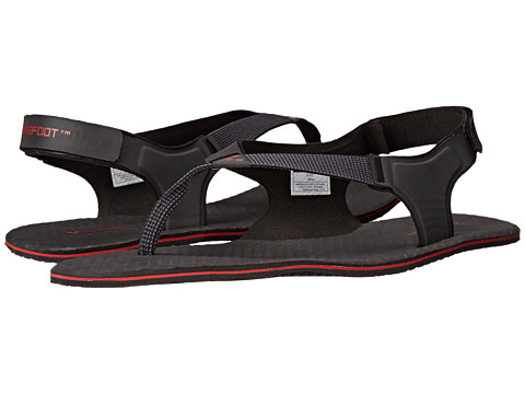 Vivobarefoot - Ulysses (Black/Red 3M) Men's Sandals