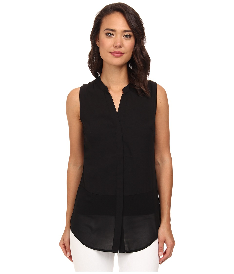 Brigitte Bailey - Sleeveless Button-Down Blouse (Black) Women's Blouse