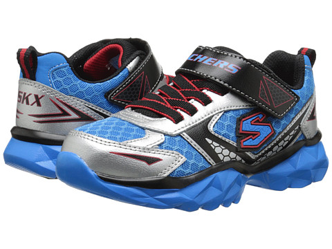 SKECHERS KIDS - Hypersonic - Jet Pack (Little Kid/Big Kid) (Silver/Blue) Boy's Shoes