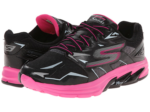 SKECHERS - Go Run Strada (Black/Hot Pink) Women